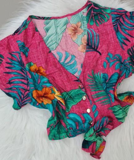 veigaboutique com br conjunto estampado cropped e short botoes pink 1