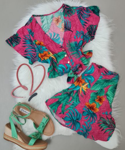 veigaboutique com br conjunto estampado cropped e short botoes pink
